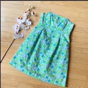 LILLY PULITZER dress size 6 alligator blue green